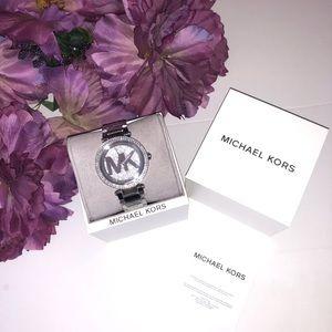 New MK Women's Parker Pave Crystal Bracelet Watch